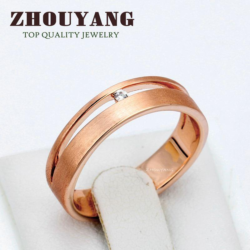 Top Quality Simple Wire Drawing Process 18k Gold Plated Lover\'S Ring ...