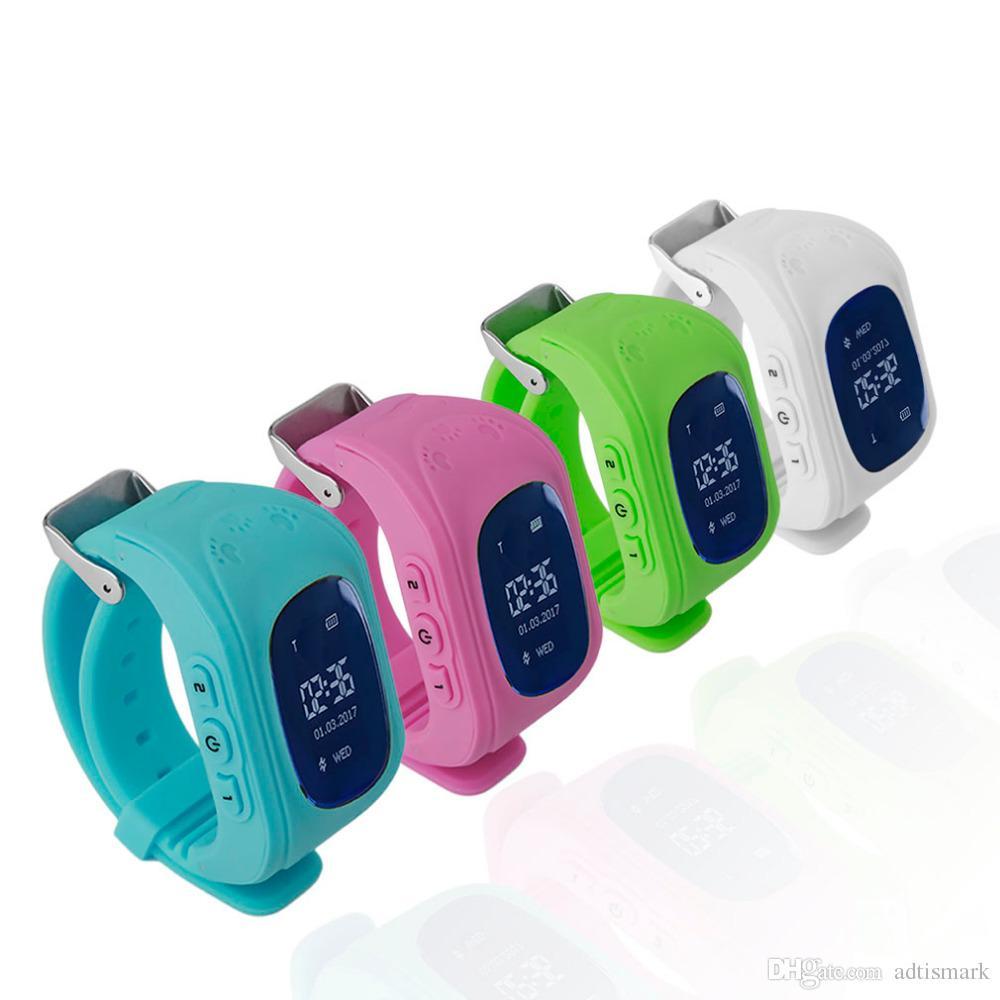 Professional Q50 OLED Display Children Kids Smart Wrist Watch GPS Tracker  Locator Anti-Lost Waterproof Smart Watch Drop Shipping