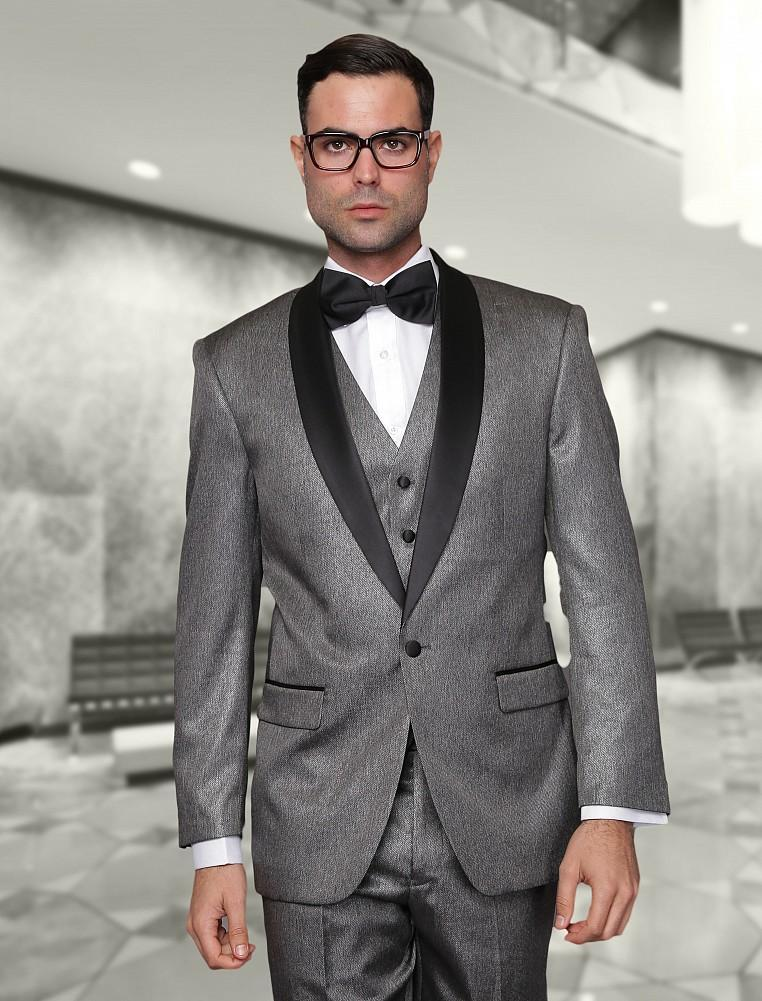 2015 New Arrival Grey Wedding Tuxedos Mens Suits Cheap Jacket+ ...