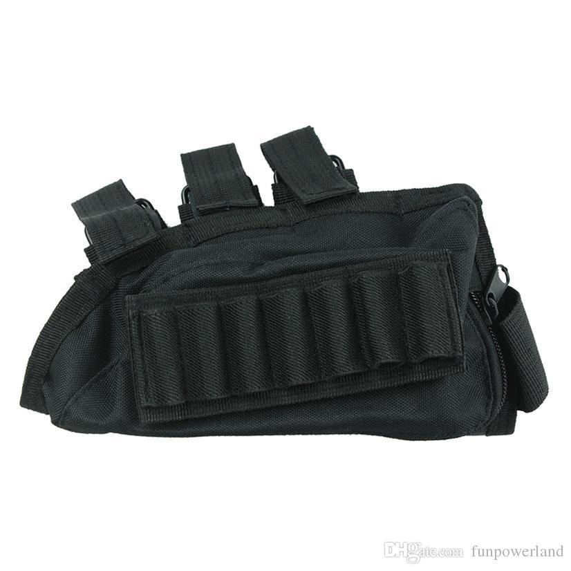 Funpowerland جيد QualityBlack اللون بندقية بعقب قذيفة حامل الخد الراحة شحن مجاني