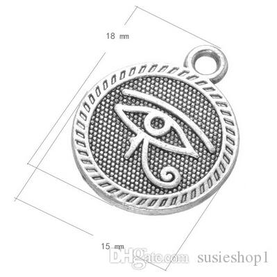 200 piezas de antigüedades siver evil eye colgantes encantos bueno para bolsas de ropa DIY artesanía envío gratis