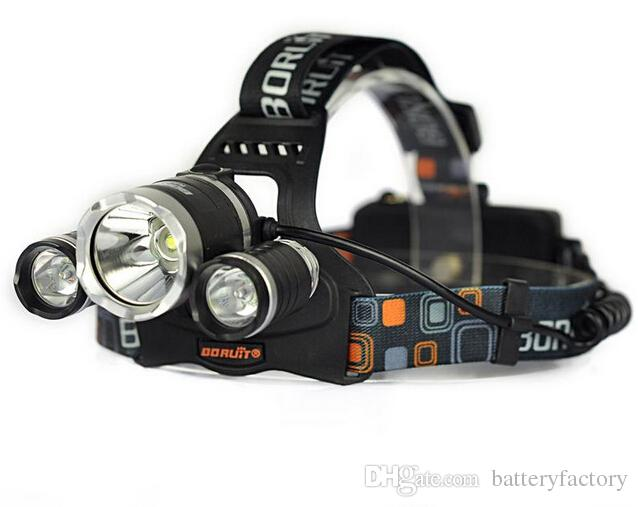 2015 5000LM JR-3000 3X CREE XML T6 LED Headlamp Headlight 4 Mode Head Lamp + AC Charger for bicycle bike light outdoor Sport+Car AC Charger