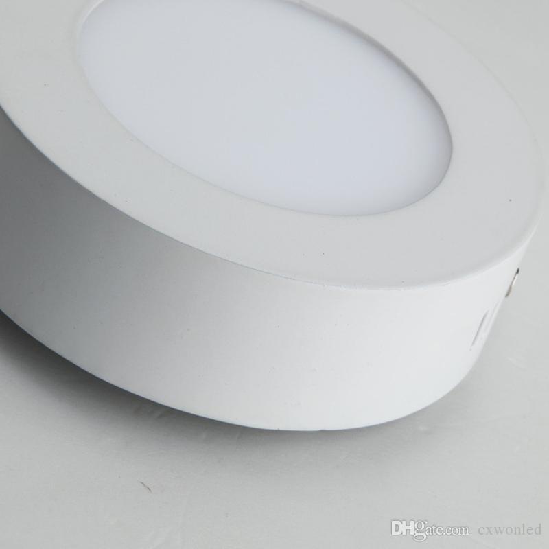 6W 12W 18W 25w 30w 36w Cuadrado redondo Led montado en superficie Panel de luz regulable Luz Led Downlight iluminación Led techo downlight 110-240V