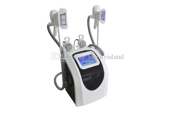 두 개의 Cryo 핸들 팻 냉동 슬리밍 기계 Cavitation RF 쿨 바디 조각 시스템 Cavitation + RF 냉동 슬리밍 장비