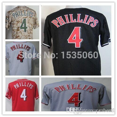 4 majestic white cool base flexbase authentic cincinnati reds baseball jersey 2017 2015 new 4 brandon phillips jersey custom cincinnati reds authentic