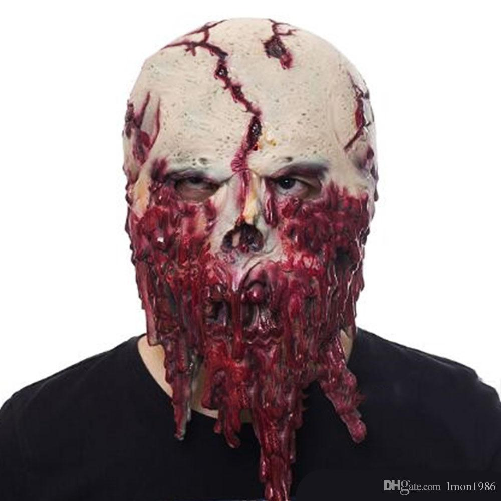 1c98a7f2c 2018 New Zombie Mask Latex Accoutrements Mask Skull For Party Halloween  Scary Terror Masks Horror Mascaras Latex Realista Masquerade Ball  Masquerade Ball ...