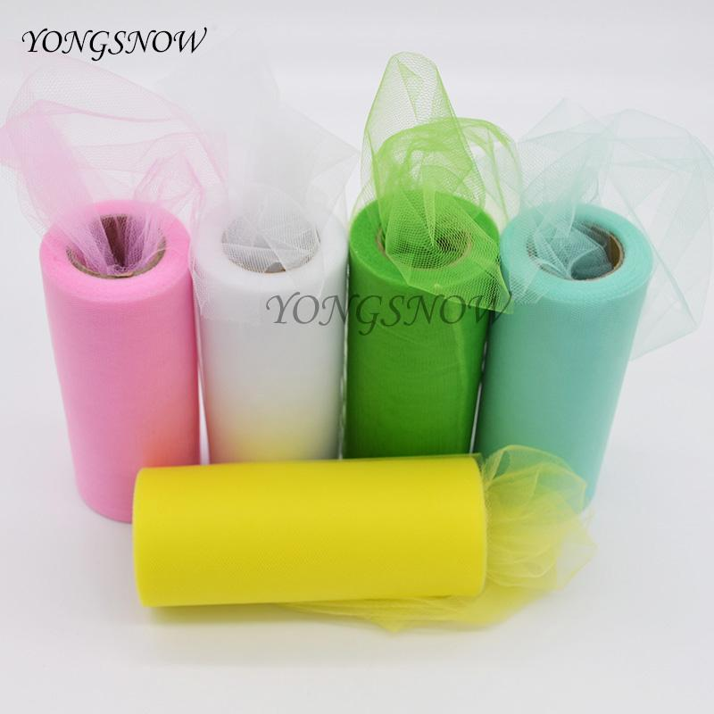 15CM * 25 Yards Colorful Tissue Tulle Paper Roll Spool Craft Wedding Party Decoration DIY Tutu Dress Festive Supplies 9Z