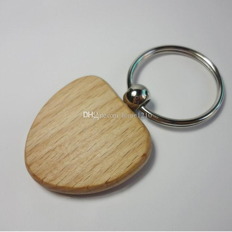 """Hot sale Heart 1.5X1.38"""" Blank Wooden Key Chains Promotion Carving Key rings can be carving you LOGO Christmas Gift"""