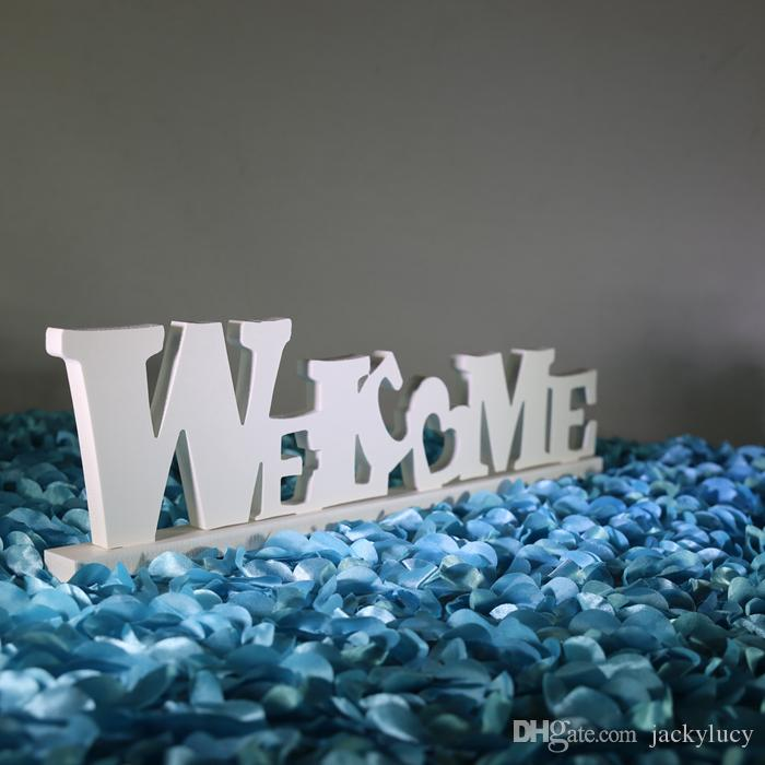 New Arrival White WELCOME and LOVE Styles Wedding Reception Table Welcome Area Decorative Ornaments Supplies