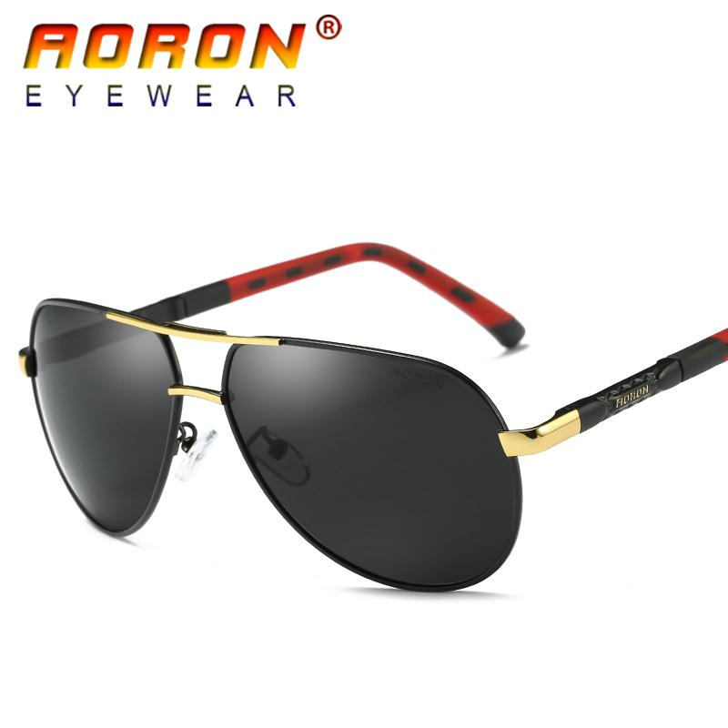 39d24b4f85e9 AORON Brand LOGO Design Men Polarized Sunglasses Driving Mirror Fashion  Glasses Sport Mens Spectacles Eyewear With Original Box Accessories Bifocal  ...