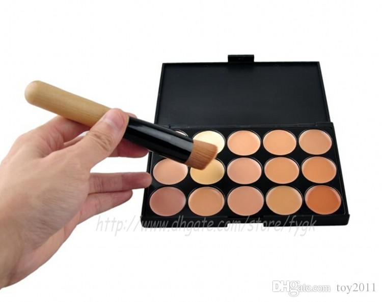 Professional Concealer Foundation Contour Face Cream Makeup Palette Pro Tool for Salon Party Wedding Daily With Brush