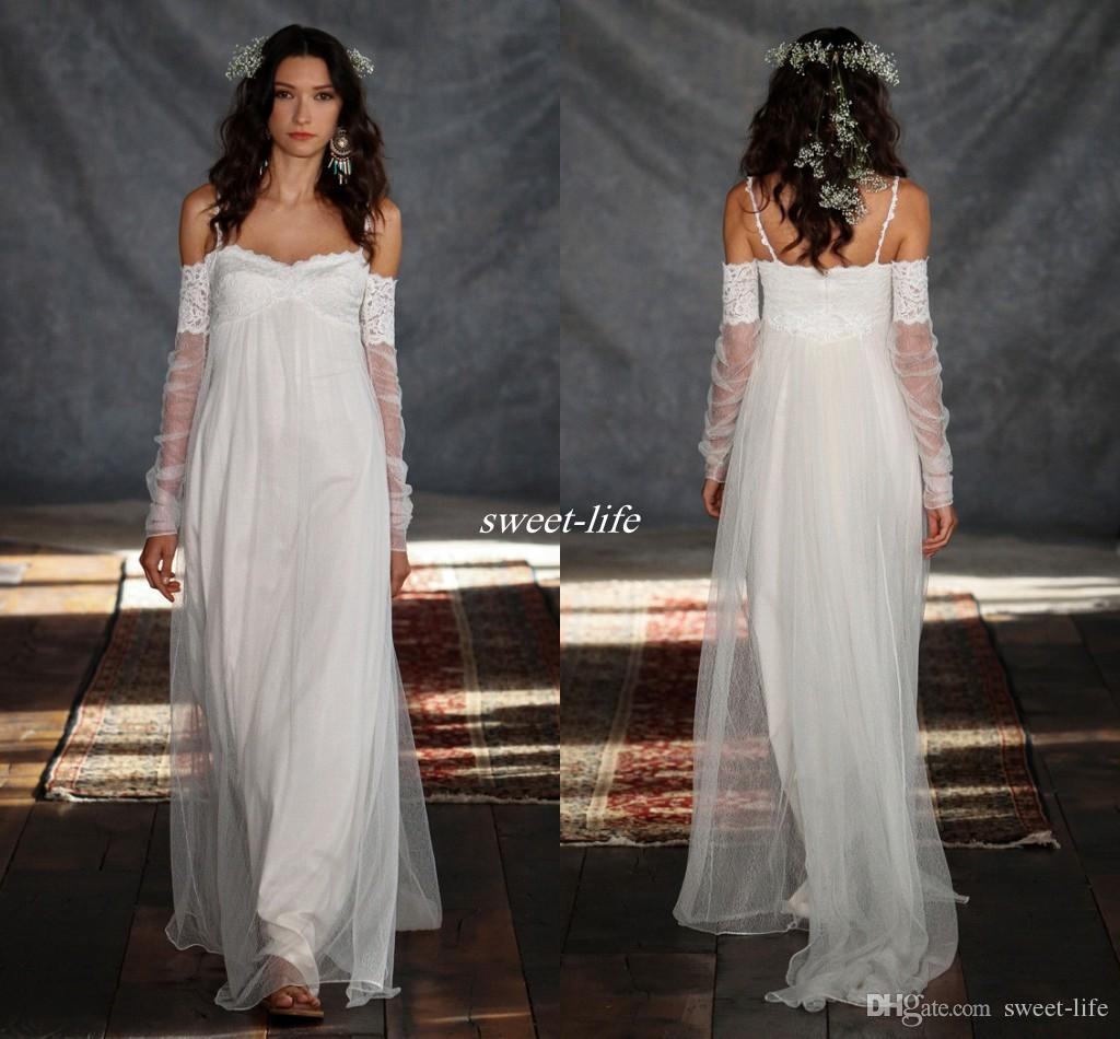 Summer Favourite Grecian Dresses: Bohemia Summer Beach Wedding Dresses 2016 Greek Style