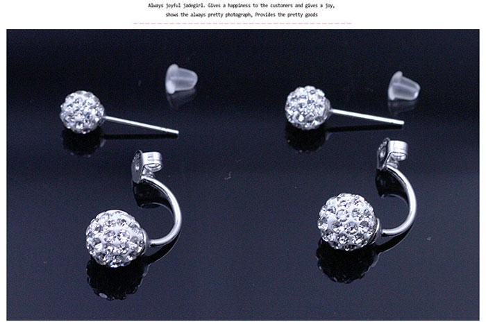 Новые ювелирные изделия кристалл диско-шар серьги-гвоздики австрийский хрусталь стерлингового серебра 925 серьги для свадьбы 8 мм / 10 мм / 12 мм