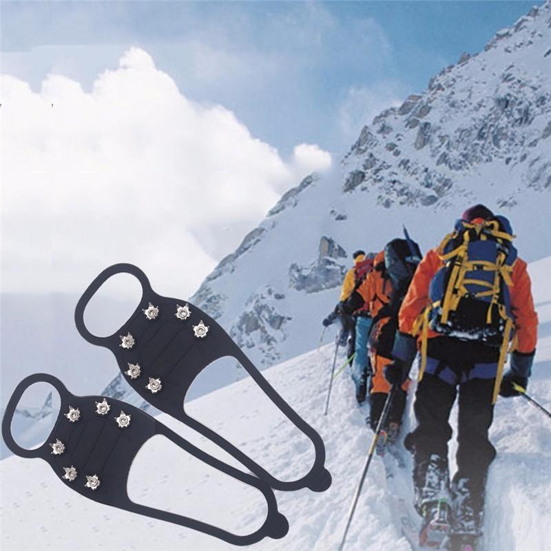 Zapatos Profesional Escalada Crampón Espárragos Para Equipo Hielo Spike 1 Grip Nieve Caminar Invierno 6 Par Al Acampar De Antideslizante hrCxtBsQd