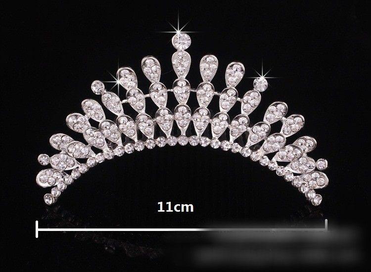 Tiara nupcial de cristal barato 4 capas en stock Accesorios para el cabello Pin nupcial Evento formal Desgaste de la cabeza Accesorios para el cabello de la boda