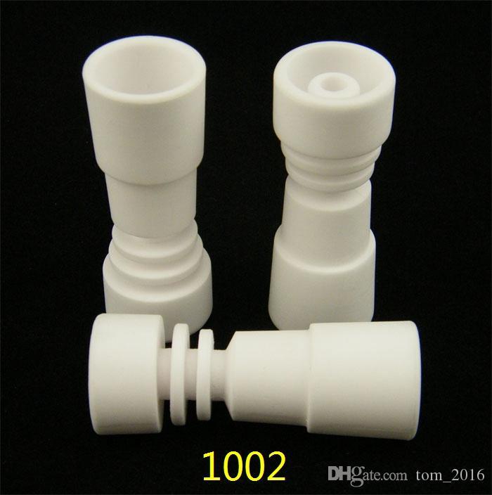 흡연 도고 도매 Domeless 여성 세라믹 네일 유니버설 적합 14mm 18mm 조인트 크기 도자기 손톱 무료 배송