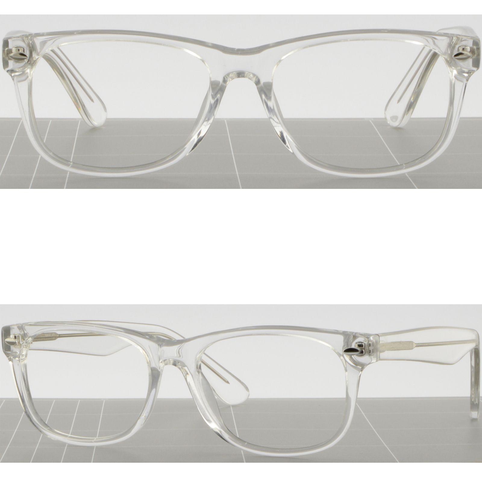 Thick Square Acetate Frames Light Clear Plastic Prescription Glasses ...