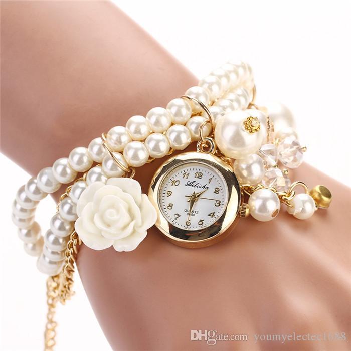 Pearl Rose New Fashion Design Luxury Brand Quartz Wristwatch Women Dress Watch Ladies Quartz Watch Girls Rose Luxury XR622