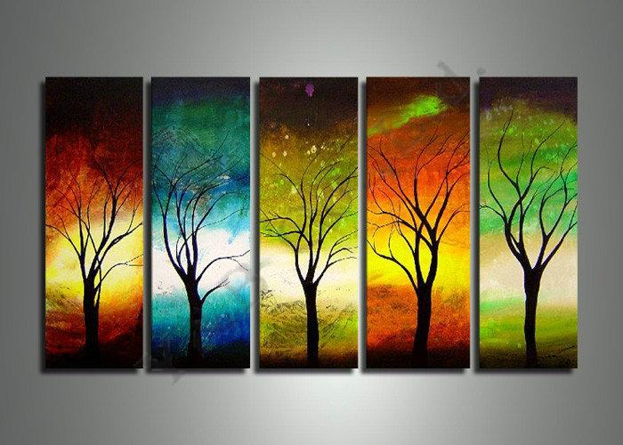 2019 High Quality Four Seasons Tree Oil Painting On Canvas