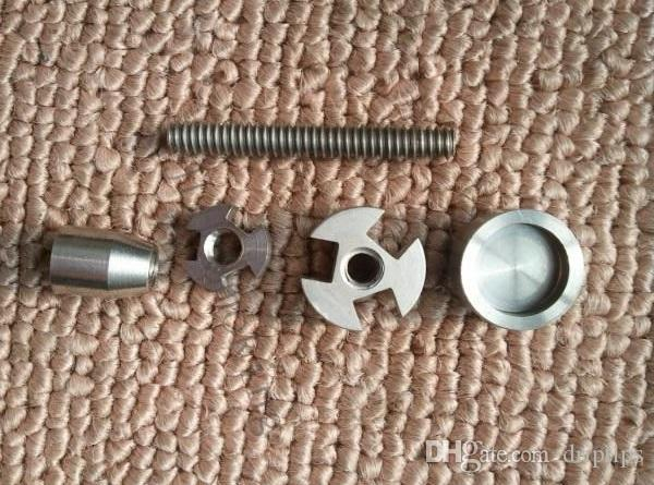 14mm 18mm réglable titane ongles GR2 titane ongles 2 en 1 TITANIUM NAIL Titanium Domeless Nail Wax Oil NOUVEAU pour la vapeur