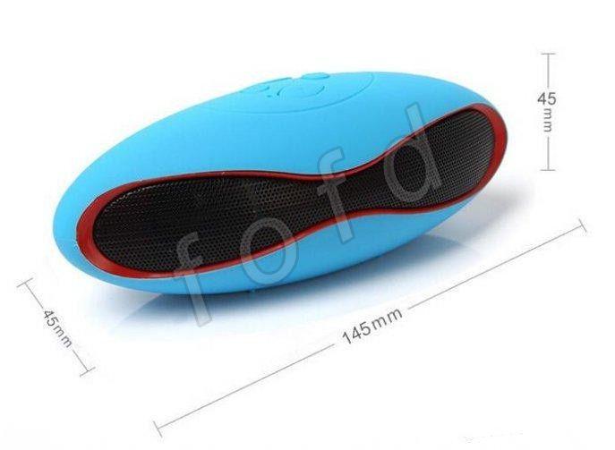 Mini Bluetooth Hoparlör Rugby Futbol Futbol Stereo Taşınabilir Dijital Müzik Kablosuz NFC Player iPhone 6 5 Samsung U Disk TF Kart 100 adet