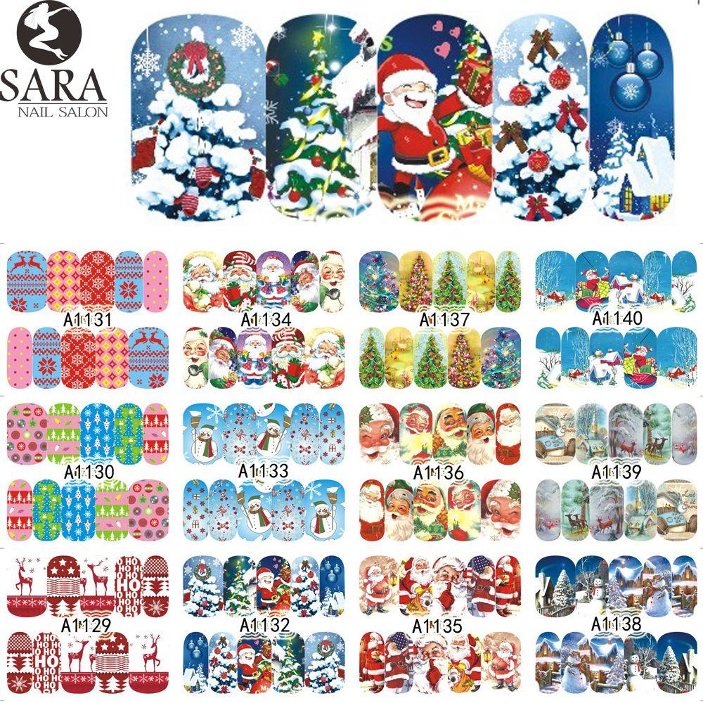 Großhandel Großhandel Sara Nail Salon Weihnachten Santa Aufkleber ...