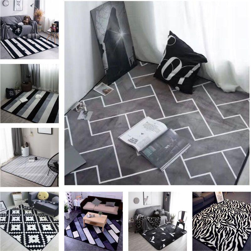 Großhandel Europäische Art Graue Farbe Streifen Bereich Teppiche ...