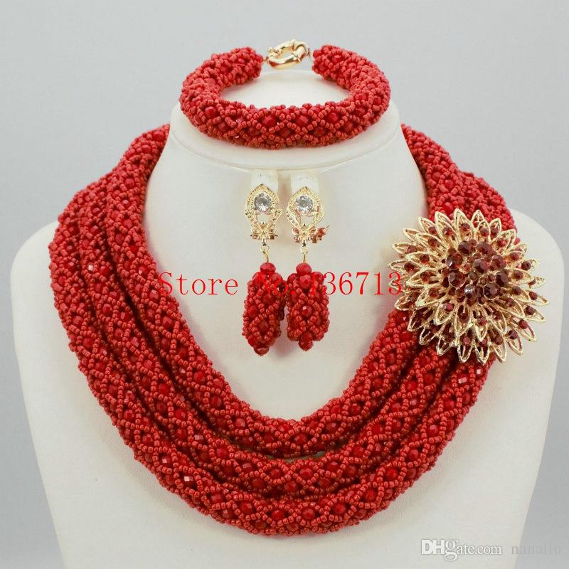 2018 2016 Coral Bead Sets Jewelry Latest Design Nigerian Beads ...