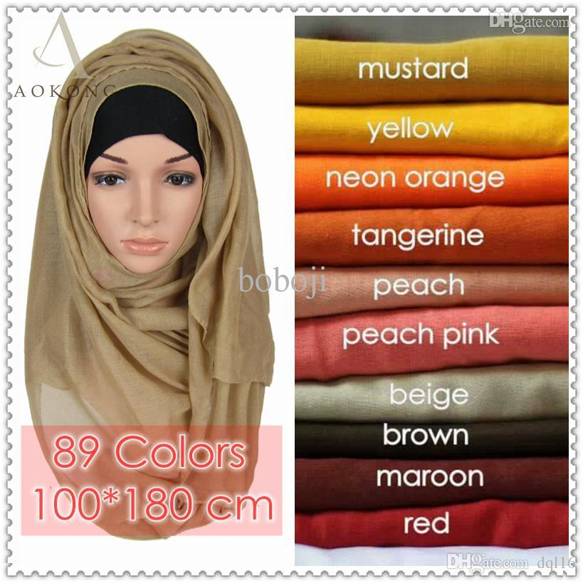 Wholesale Mixed Solid Plain Hijab Scarf Fashion Wraps Foulard Viscose  Cotton Maxi Shawls Soft Long Islamic Muslim Scarves Hijabs Window Scarves  Neck Scarf ... 0ecc6cd2d8b