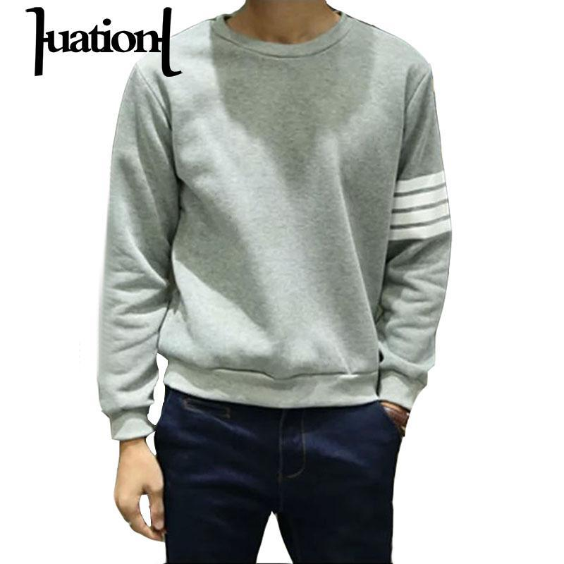 3158731f0 2019 Wholesale Huation 2017 Hoodies Men Sudaderas Hombre Hip Hop Mens Brand  Black Fleece Hoodie Cardigan Sweatshirt Slim Fit Men Hoody Pullover From ...