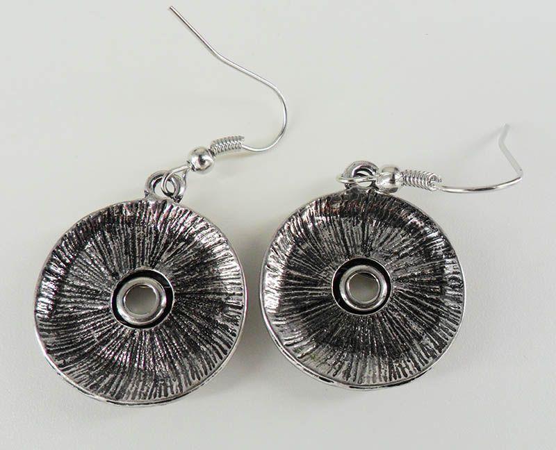 10 пар оптом старинное серебро Noosa Серьги женщины серьги шпильки сплава кусок кнопки оснастки 12 мм DIY Сменные серьги