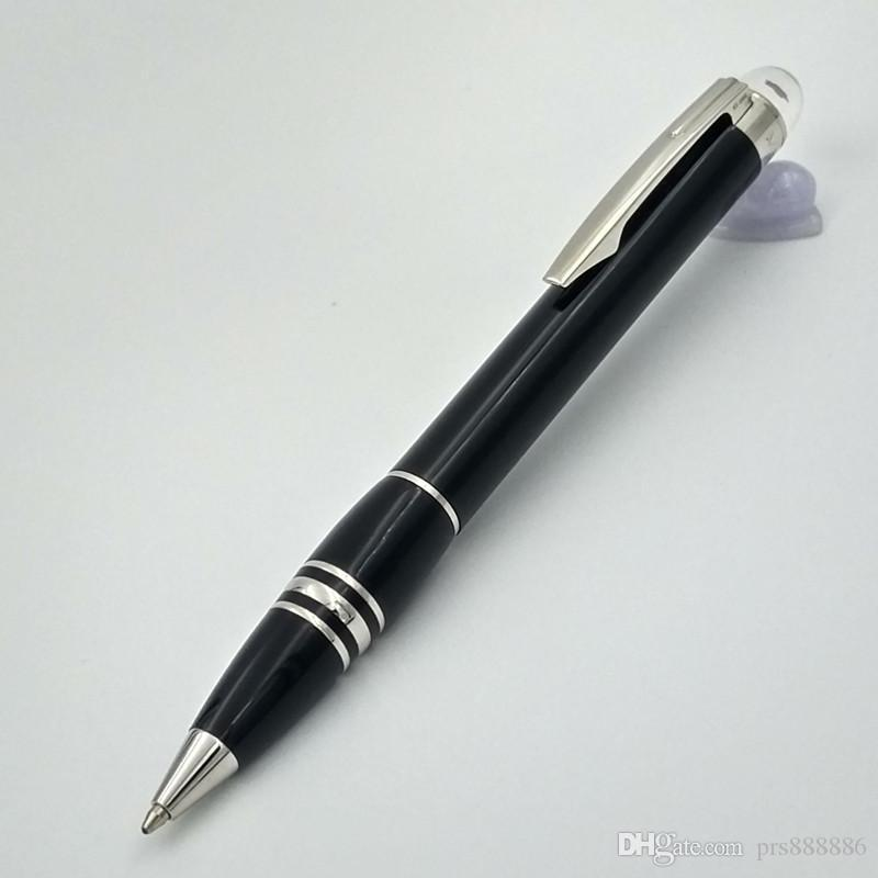Lüks Mon kalem Siyah varil rulo tükenmez kalem elmas üst kırtasiye hediye için marka kalem yazma hediye