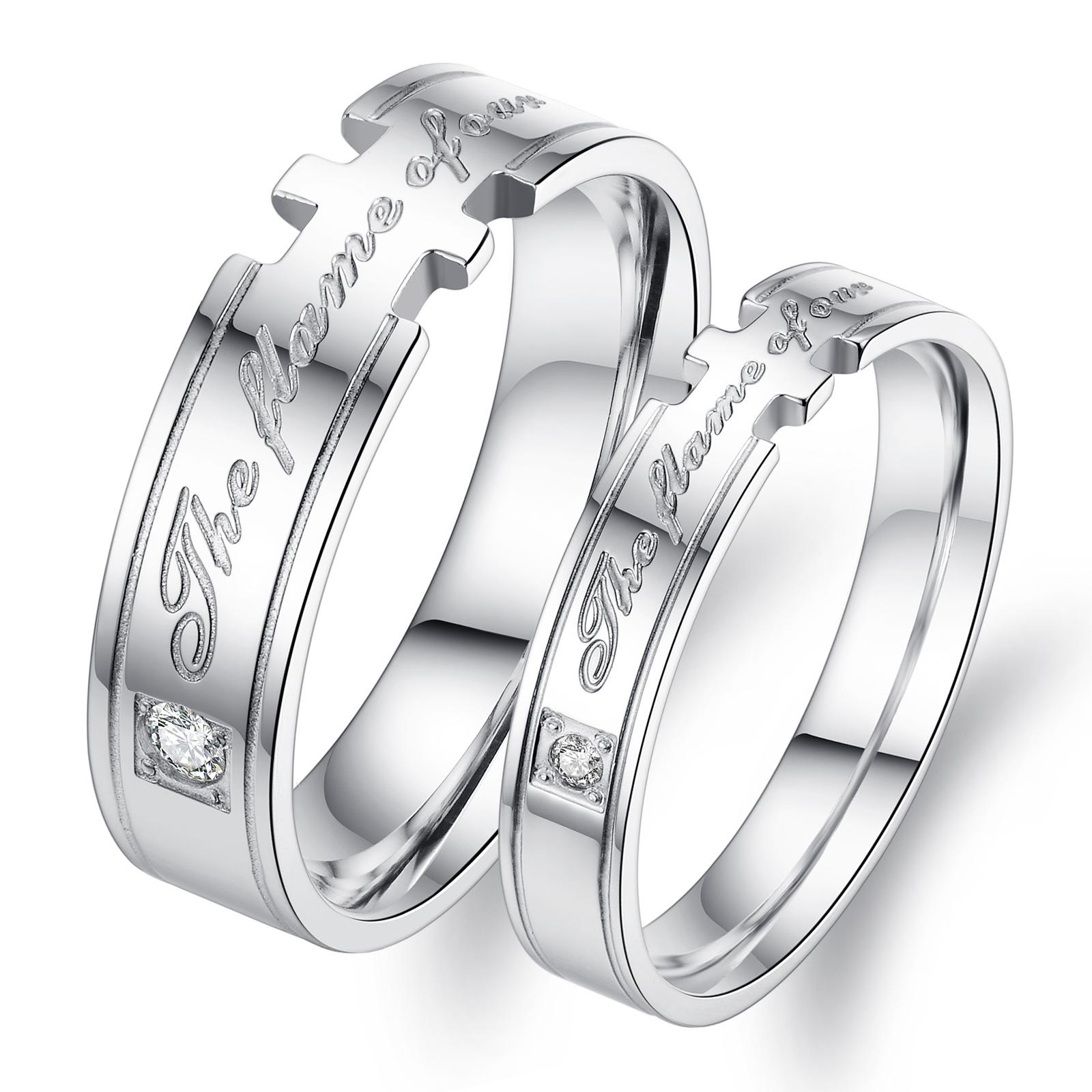 2017 4mm & 6mm Titanium Steel Rings Couple Rings Celtic Style Ring ...