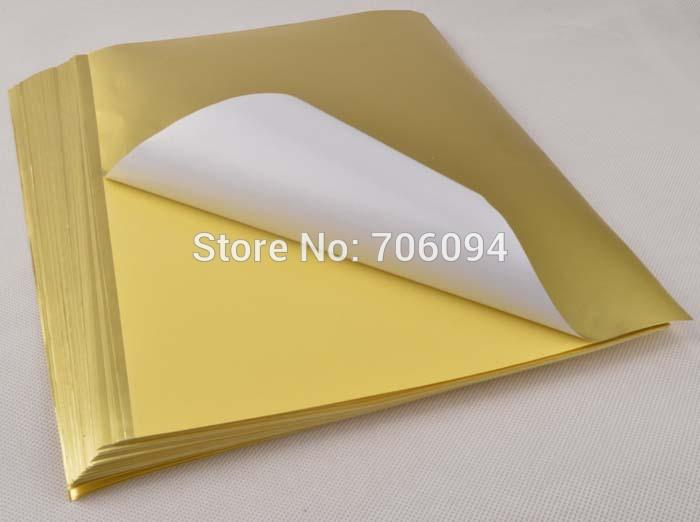 100sheets a4 frostedmatte gold sticker paper label printing paper glossy a4 gold sticker adhesive strength printing paper high quality a4 paper china a4