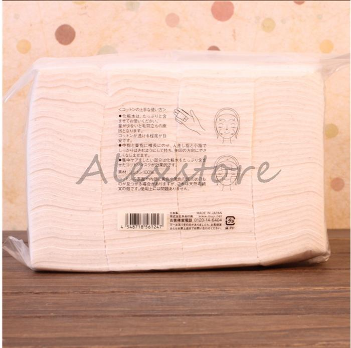Authentic Japanese Cotton Unbleached Organic Cut Nature Cotton /Bag 50mm*60mm from MUJI Wicking Pad Wick PK Pure Koh Gen Do Puff DHL