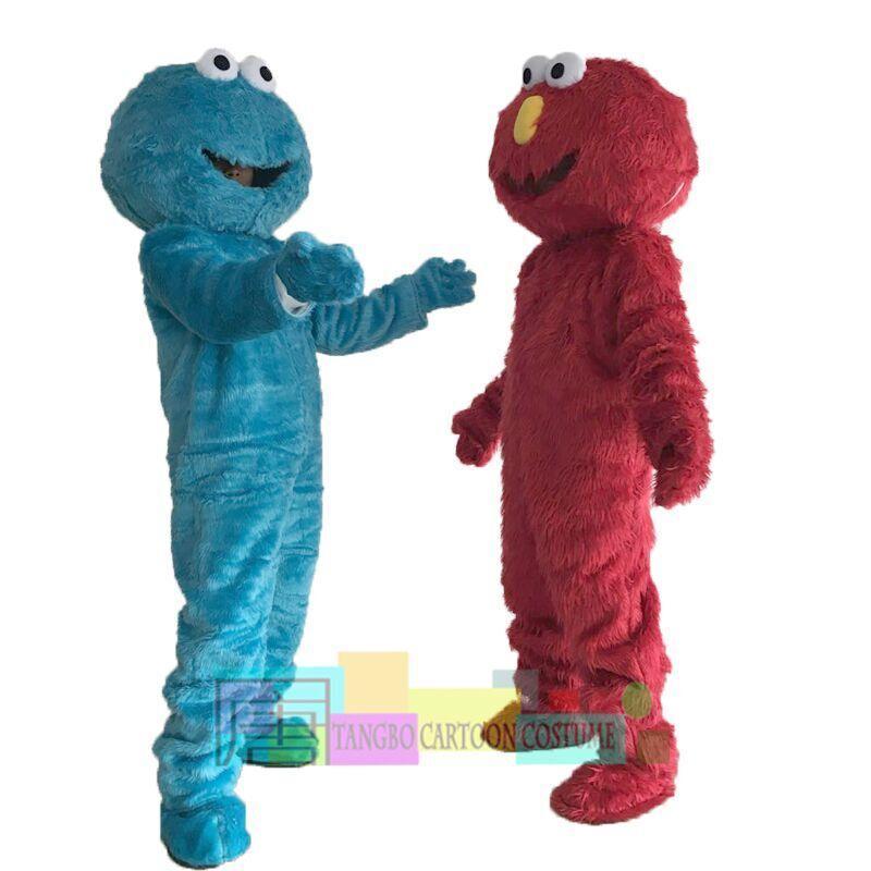 Costume de sésame Street Blue Cookie Monster Mascotte Déguisement Taille adulte Halloween livraison gratuite