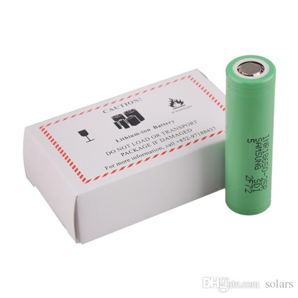 Authentique 100% d'origine INR18650 25R M Batterie 2500mAh 20A Décharge Flat Top Vape Lithium 18650 Batterie pour Samsung Box Mods
