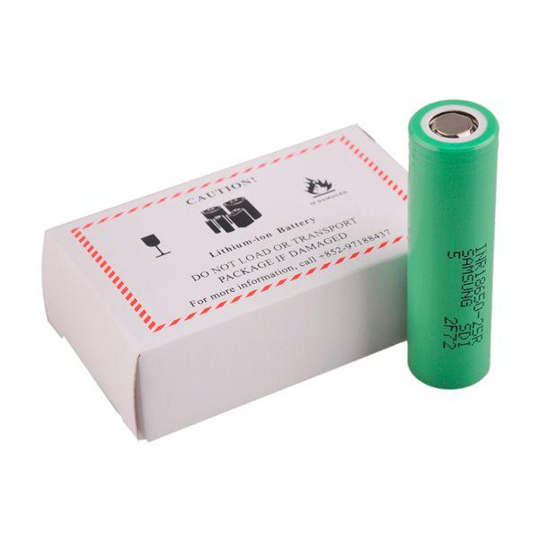 Otantik 100% Orijinal INR18650 25R M Pil 2500 mAh 20A Deşarj Düz Üst Vape Lityum 18650 Pil Samsung Box Mods için
