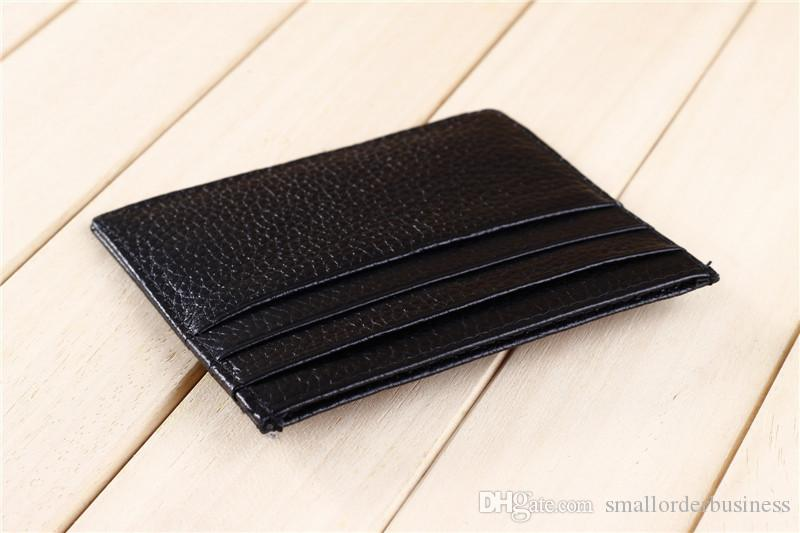 Card Holder For Men And Women Genuine Leather Credit Card Wallet Design Credit Card Wallet Men MOQ