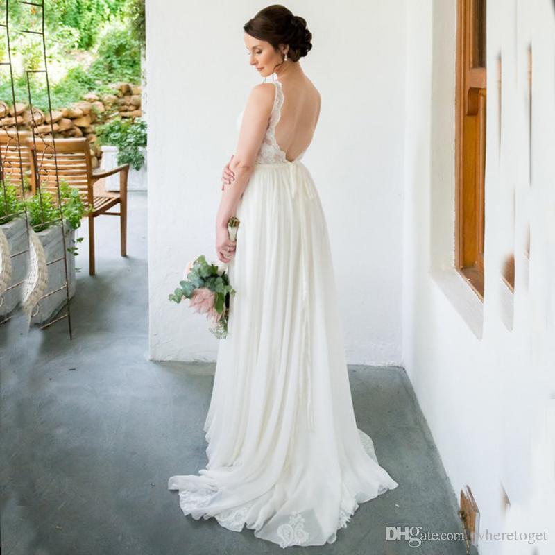 Großhandel Neue Stil 2018 Böhmischen Brautkleider Backless Günstige ...