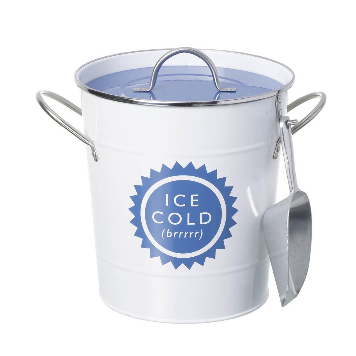 2018 Ice Bucket Round White Blue Home Garden Party Wine Beer Cooler