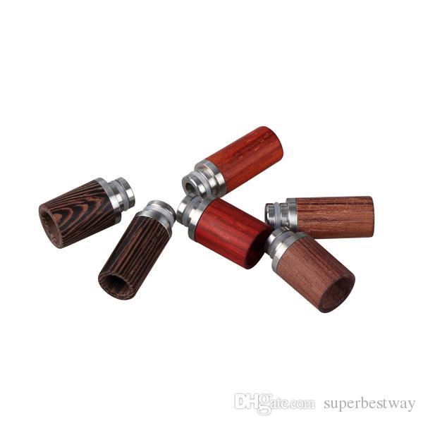 Ecig damla İpuçları 510 RDA Geniş Delik Tarzı için ahşap gül 12mm Çap e sigara RDA damla İpuçları yüksek kalite FJ223