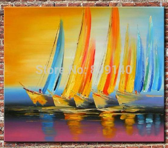Oil Painting Sailing Ship