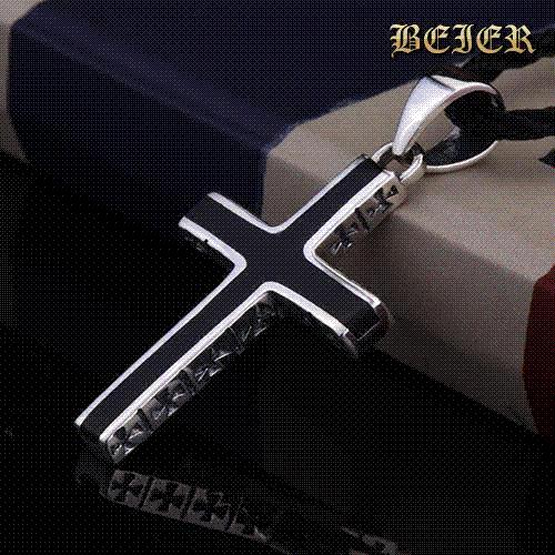 Wholesale beier 925 sterling silver pendant cross necklace men wholesale beier 925 sterling silver pendant cross necklace men emanuel personality korean thai silver men silver y necklace mens necklace handmade jewellery mozeypictures Image collections