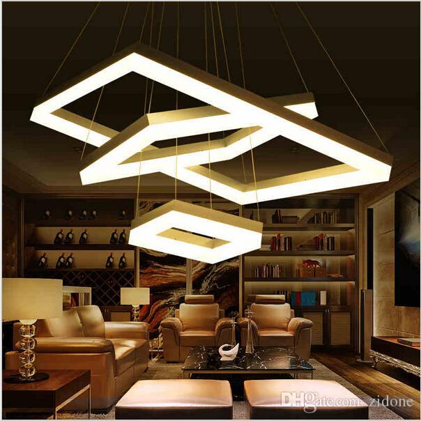 modern led pendant lights for dining room living room rectangle acrylic led pendant lamp fixture lamparas modernas led square pendant light hanging pendant