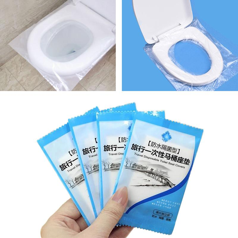 50Pcs/Pack 40*48cm Disposable Toilet Seat Covers Portable Waterproof Toilet Mat Pad for Travel Bathroom WC Accessories Hotel Supplies