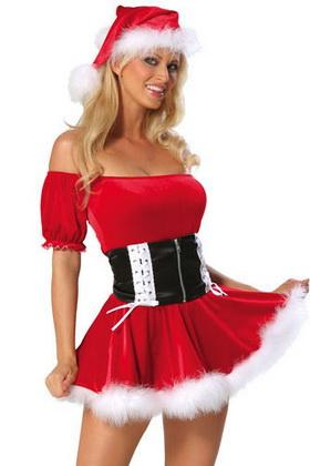 sexy lingerie christmas santa costume cosplay with belt sexy dress four people halloween. Black Bedroom Furniture Sets. Home Design Ideas