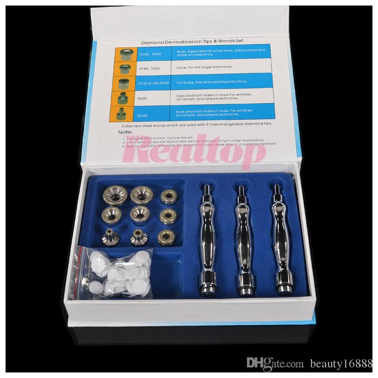 NEW Promotion Diamond Dermabrasion Microdermabrasion Skin Peeling Replacement Parts With Tips Wands Cotton Filter