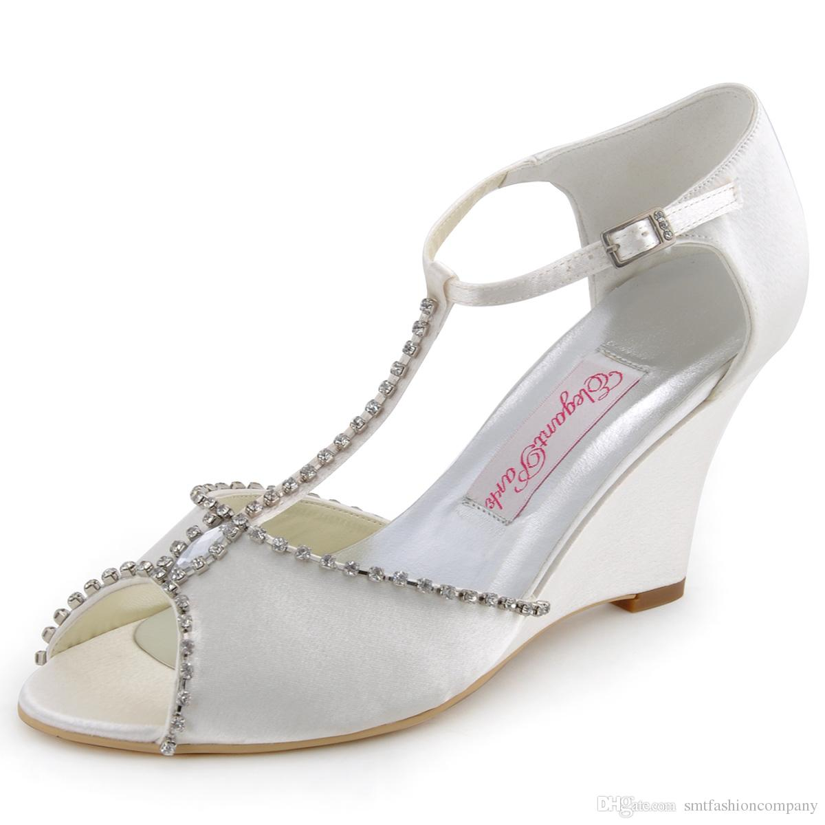 Euro35 41 Fast Delivery Mc 032 y Pumps White Ivory Peep Toe
