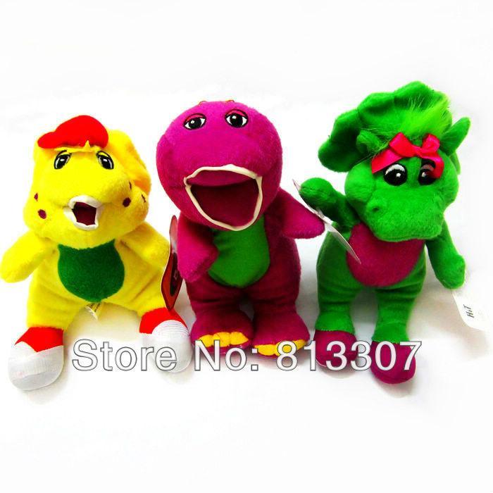 "New Barney Singing Plush Doll Toys 6.7"" I LOVE U order<$15 no tracking"